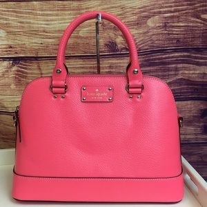 New Kate Spade Neon Pink Crossbody Leather Bag